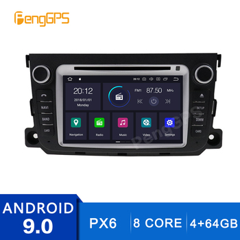 4+64G 2 Din Stereo Android 9.0 for Mercedes-benz Smart 2010-2014 GPS Navigation DVD Player Radio Multimedia 4K Headunit