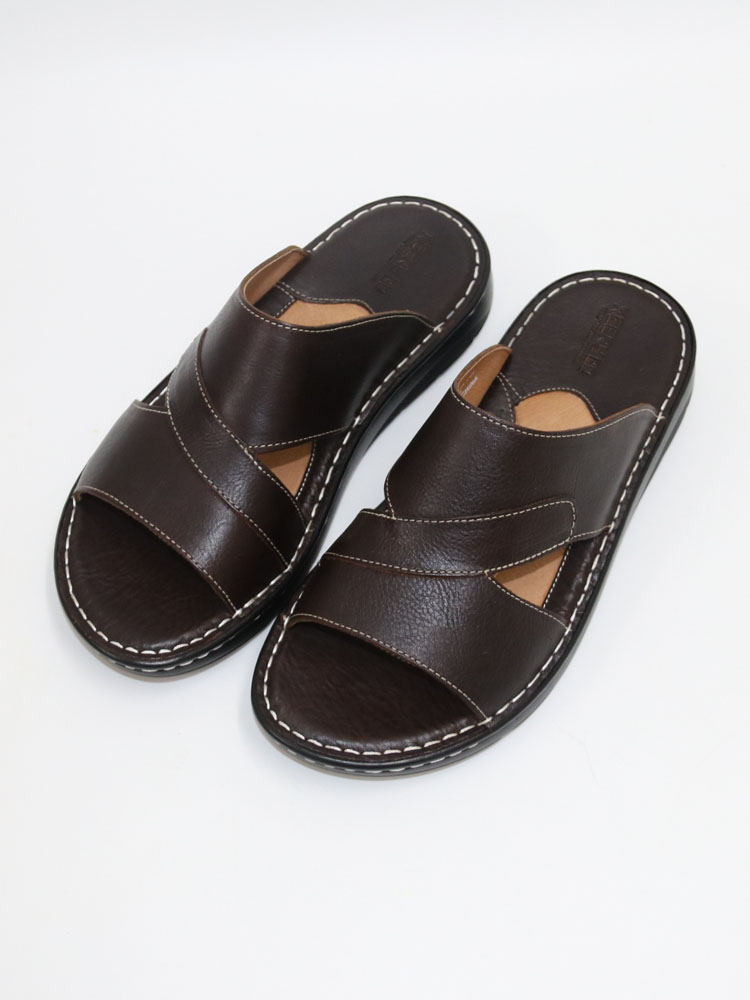 Men's SlippersLeather Sandals For MenNatural Leather Shoes And Slippers MenComfortable Men's ShoesHigh QualitySummer Sandals