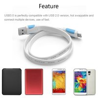USB 3.0 A to Micro B cable usb 3.0 extension cable data line for Wireless devices and MP3 MP4 player and camera