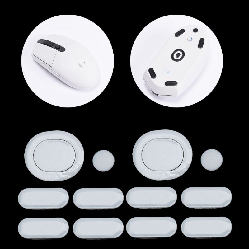 2 Sets/pack Tiger Gaming Mouse Feet Mouse Skate For Logitech G304 G305 Mouse White Teflon Mouse Glides Curve Edge