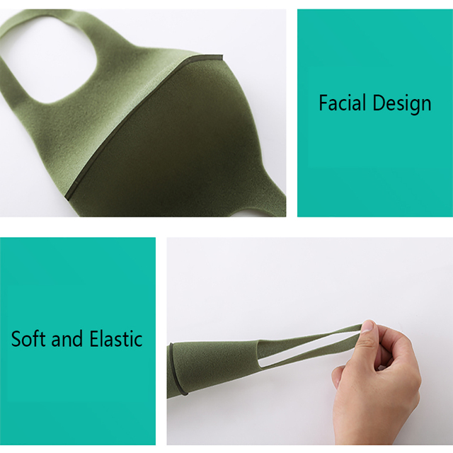 Dust Mask Breathable Unisex Sponge Face Mask Reusable Anti Pollution Face Shield Wind Proof Mouth Cover 2