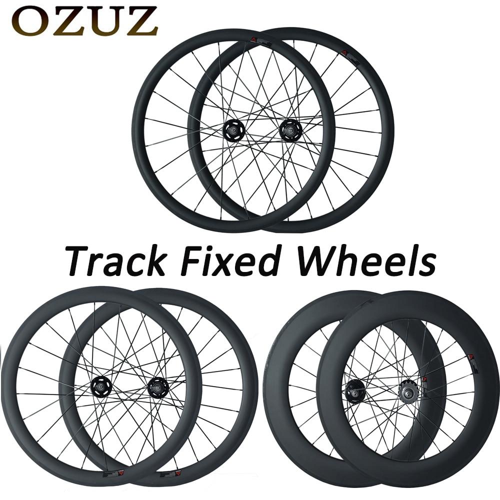 Track Fixed Gear Single Speed Carbon Wheelset 700C Clincher 38 50 88mm 3K Wheels