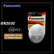 100 шт., оригинальный новый аккумулятор для PANASONIC cr2032 3 в, кнопочные элементы, батарейки для часов, компьютера cr 2032