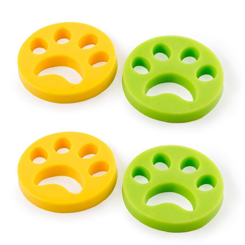 4 Pcs Pet Hair Remover Reusable Washing Lint For Fur And Lint Dog Cat All Pets Safe For All Clothing Non-toxic Supplies