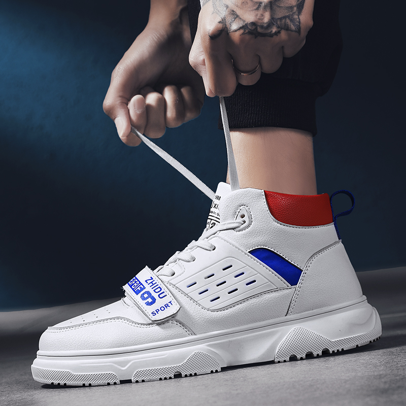 2019 new spring men shoes sneakers fashion casual high top shoes hip hop white thick sole shoes  mens  comfortable  lightweight