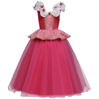 Butterfly Princess Dress for Girls Multi layer Tulle Spliced Long Dress Princess Cosplay Costume Girls Clothes for Photo Shoot