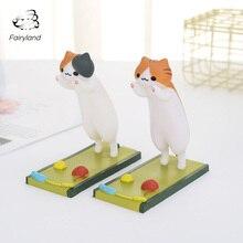 Cute Cat Phone Support Holder Hot Selling Japanese Cartoon Animals Desktop Decoration Creative Orange Lazy Stand