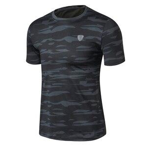 FANNAI Men Sport Running T Shirt Camouflage Sportswear Short Sleeve Fitness Gym Shirt Quick Dry Basketball Training T Shirt(China)