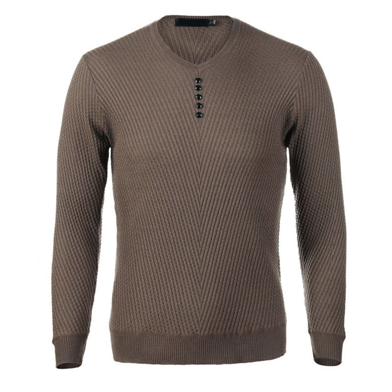 Autumn 2019 Mens Sweaters And Pullovers V-neck Long-sleeve Sweater New Fashion Cotton Pullover Men Casual Knitted Pull Homme 506