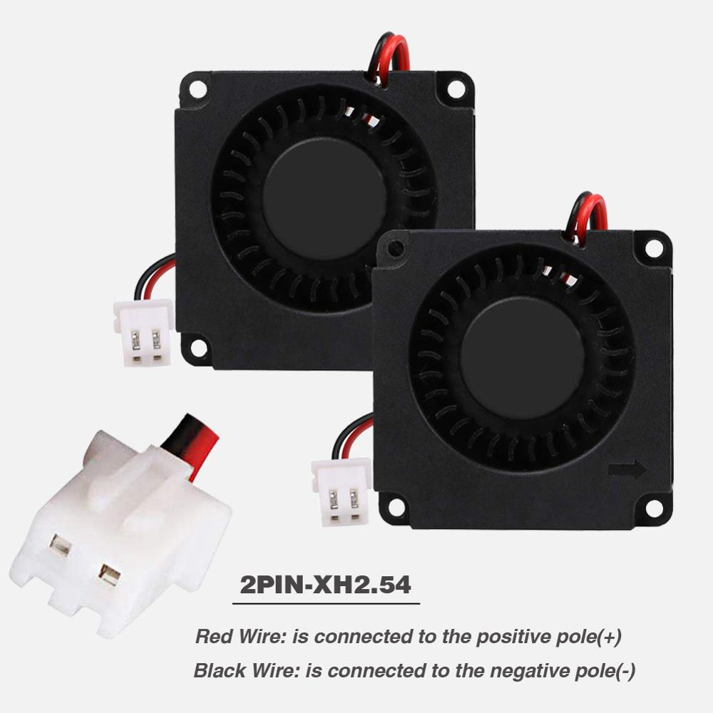 2PCS 40mm 3D Printer Fan 12V 24V 5V 4010 Blower Printer Cooling Accessories DC Turbo Blower Fan Radial Fans 40x40x10mm in Fans Cooling from Computer Office
