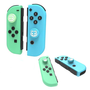 Image 5 - Animal Crossing Cat Paw Bear Leaf Flower Thumb Stick Grip Cap Joystick Cover For Nintend Switch NS Lite Joy con Controller Case