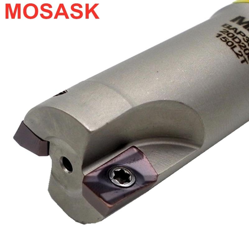MOSASK BAP300R APMT 1135 Carbide Insert End Mill BAP300 C10 C12 C20 C25 CNC Right Angle Shoulder Lathe Indexable Milling Cutter