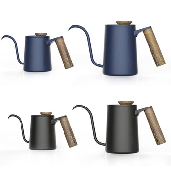 Metal Coffee Pot Gooseneck Pot Manual Enamel Pour Over Drip Kettle Teapot Large Capacity Milk Water Jug Pitcher Tools 1