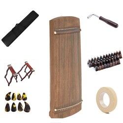 Mini Cina Guzheng 75 Cm Kemiri Depan Kembali China Guzheng String Musical Instruments