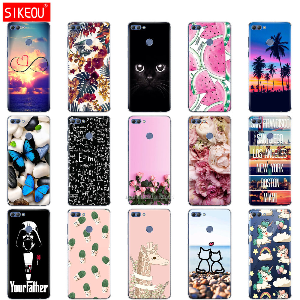 Silicone phone Case For Huawei p smart 2018 Case Cover Enjoy 7S Case For Psmart Back Cover Full 360 Protective Soft Tpu