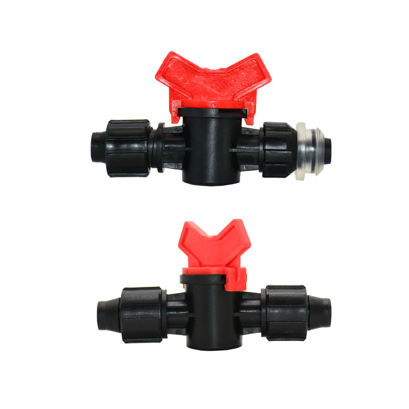 16mm Drip Tape Water Tap Connector Lock Nut 2-way Irrigation Valve Hose Repair Garden Tap Greenhouse For Irrigation 1Pcs