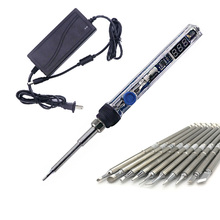 T12 Electric Soldering Iron Mini Portable LED Digital Adjustable Temperature Electric soldering Iron Tips Welding tool