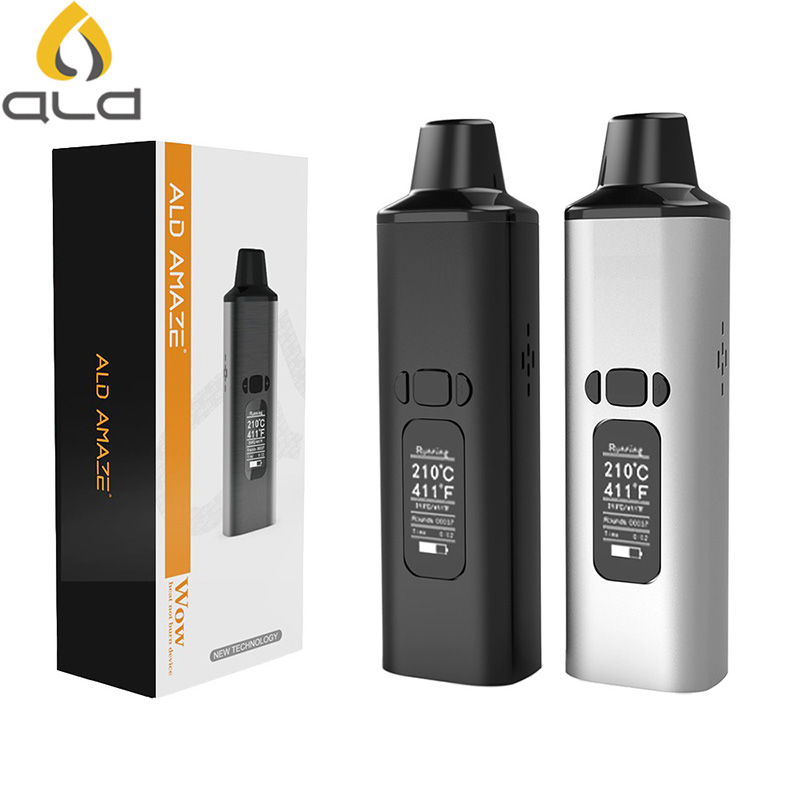 Original ALD AMAZE Dry Herb Vaporizer Kit 1800mAh Battery Smoke Herbal Electronic Cigarette Vaporizer Portable Vape Pen Kit