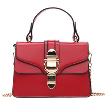 цена на Handbags Lock Shoulder Bags Autumn Fashion Designer Crossbody Bag for Women High Quality Casual Flap Female Black Messenger Bags