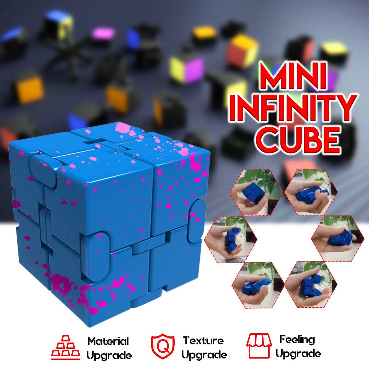 Infinit Funny Cubes Toys Anti Anxiety Stress Relief Office Puzzle for Depress Worker Kids Anti stress Juguetes Autism Desk Toy