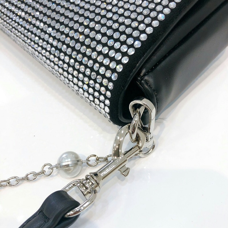 New Spring Women's Bag Pearl Insert Drill Bag Small Square Bag Single Shoulder Oblique Satchel Bag