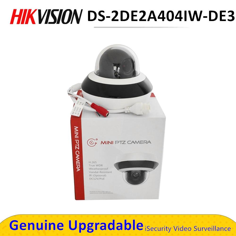 Hik – caméra de Surveillance dôme PTZ IP POE, H.265 DS-2DE2A404IW-DE3, 4mp, avec Zoom x4, micro, alimentée par DarkFighter