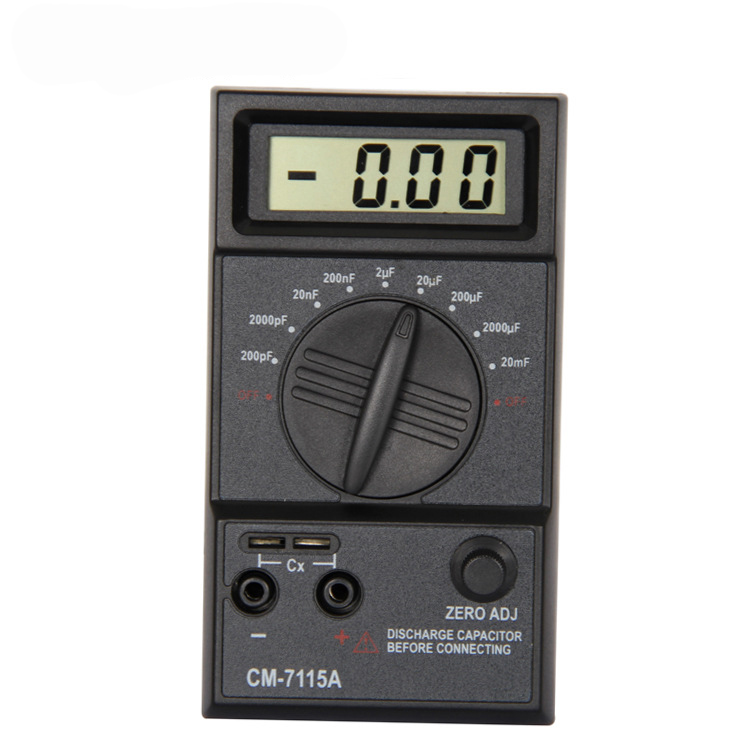 CM7115A Practical Capacitor Meter Digital Multimeter LCD Display Measuring Tool With Dual-Slope Integration A/D Converter System