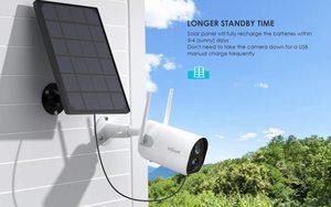 Беспроводной Камера Wi-Fi Камера Солнечный Мощность IP Камера Солнечный Мощность ed HD 1080P регистрация движения 2-полосная аудио Ночное видение ...