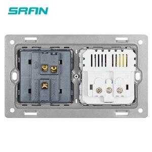 Image 5 - SRAN enchufe europeo con interruptor basculante, toma de corriente de pared 220v 16A con Panel de Pc Usb 146*86 con interruptor de luz, 1 entrada y 1/2 vías de salida