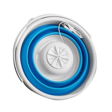 Us Plug Mini Portable Ultrasonic Turbine Washing Machine Foldable Bucket Type Usb Laundry Clothes Washer Cleaner For Home Travel цена и фото