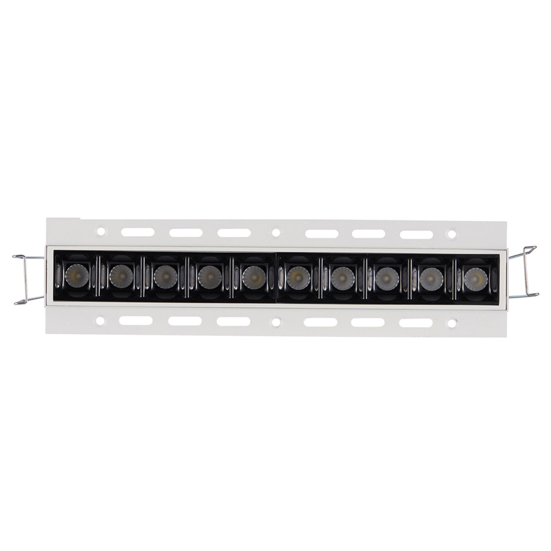 High Contrast High Visual TrImless Lamp 20W 30W LED Ceiling Linear Lighting Fixutre 2W Units Multi-spotlight With Glare Free