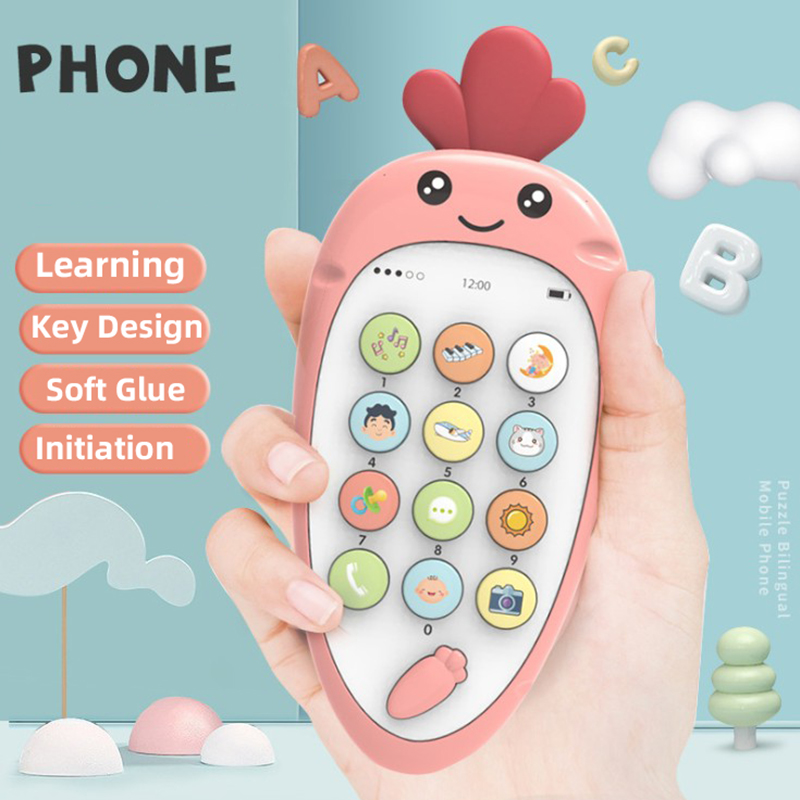 2019 New Children's Phone Toy Cartoon Mobile Phone Men And Women Baby Learning Toy Mobile Phone Child's Gift