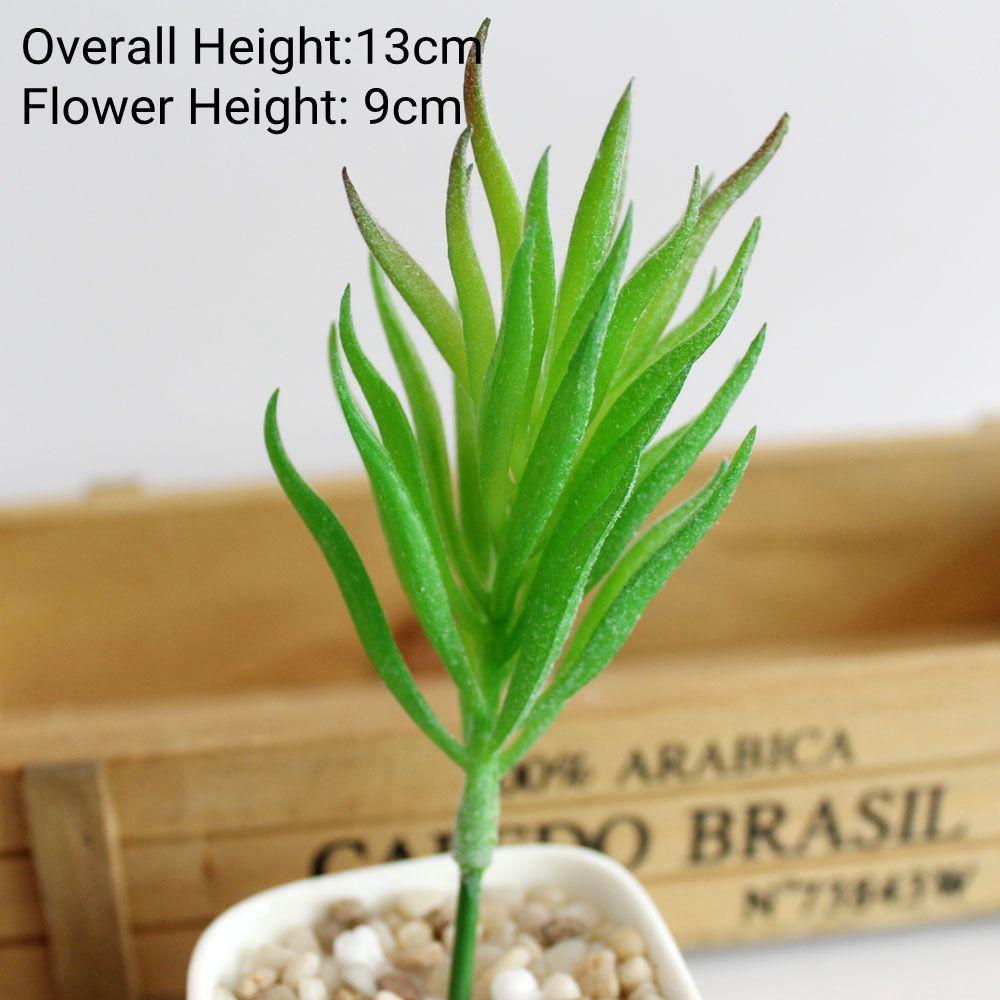 Зеленые флокированные искусственные суккуленты, растения, бонсай для рабочего стола, искусственные растения на День святого Валентина, свадебные украшения, искусственные растения - Цвет: Xiao Lan Cao