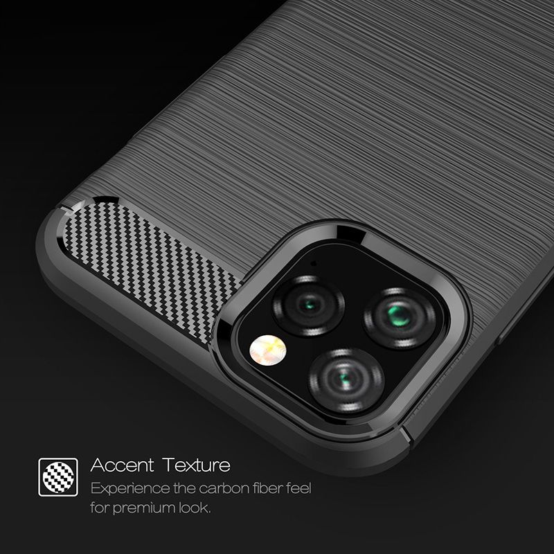 Image 5 - Silicone Soft Case for iPhone X XR XS 11 Pro max Case Carbon Fibre For iPhone 6 6s 7 8 plus Brushed Cover