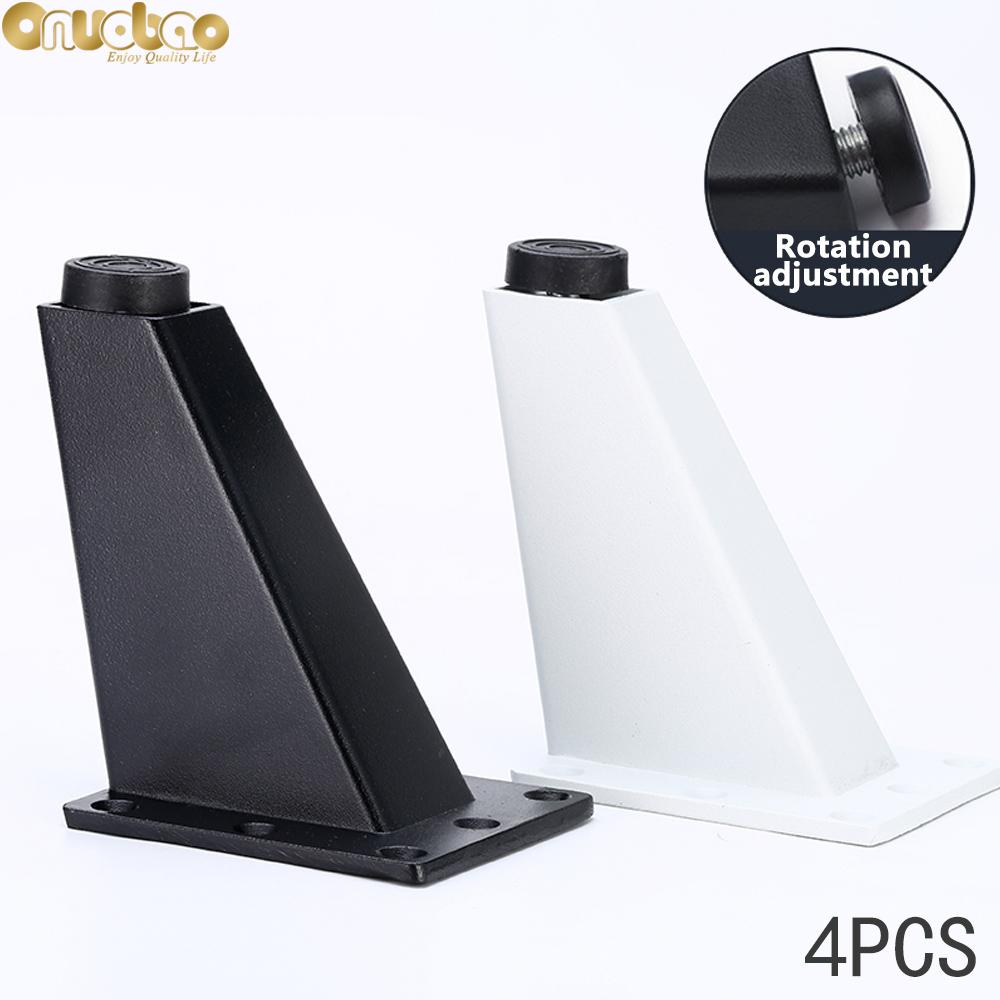 Onuobao 4 шт трапециевидной алюминиевая ножка диван высокого