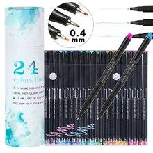 Pen Needle-Pens Hook-Line Painting-Gel Art Fineliner Handaccount Water-Based-Colored