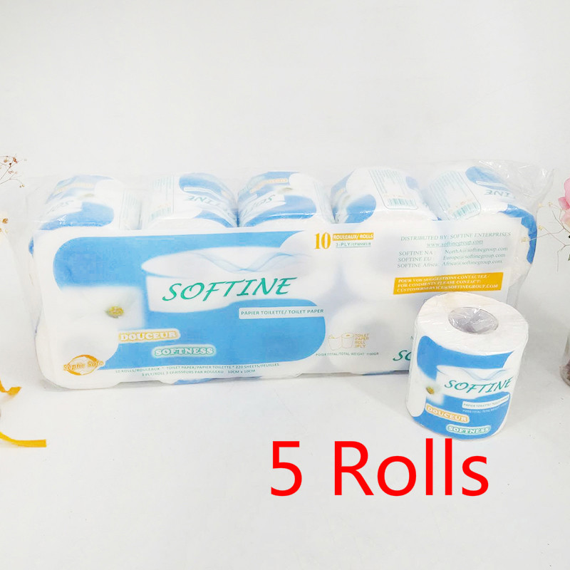 5 Rolls Silky Smooth Soft Professional Series Premium 3-Ply Toilet Paper Home Kitchen Toilet Tissue Soft Household Tissue NEW