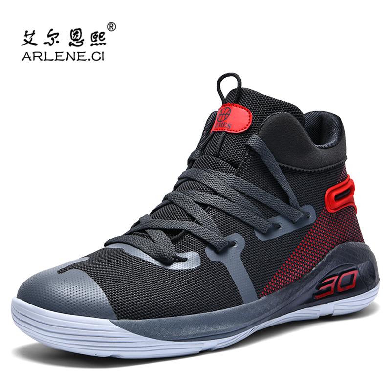Basketball-Shoes Nonslip High-Top Women Mens New Breathable for Shockproof title=