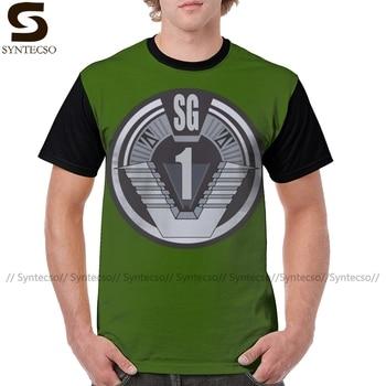 Stargate T Shirt Stargate SG koszulka poliestrowa koszulka z nadrukiem z krótkim rękawem Plus rozmiar męska zabawna koszulka graficzna