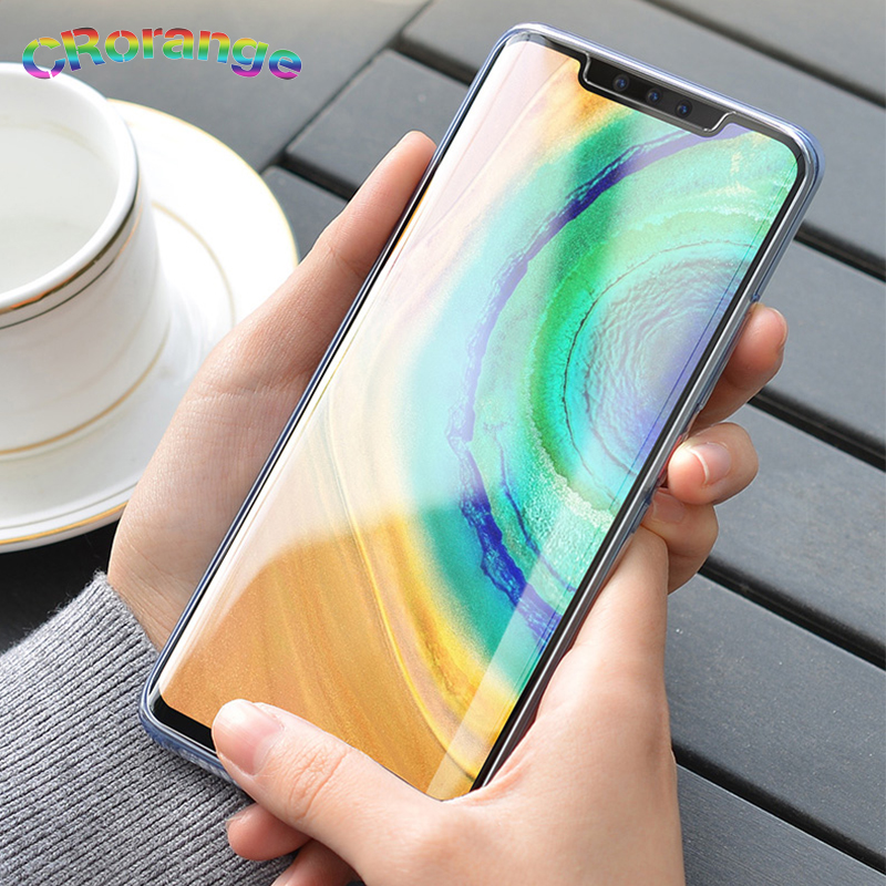 2020 New 10D Liquid UV Glue For Huawei Mate 30 Pro Screen Protector For Huawei P30 Pro Full Glue UV Tempered Glass Mate 20 Pro