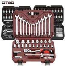 DTBD Auto Reparatur Werkzeug Ratsche Torque Wrench Spanner Schraubendreher Buchse Set Combo Werkzeuge Kit Fahrrad Auto Reparatur Mechaniker Werkzeug