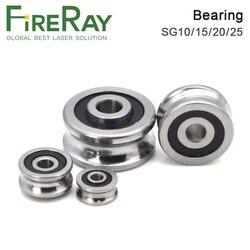 FireRay Bearings SG10 SG15 SG20 SG25 Groove Ball Bearings for CO2 Laser Engraving Cutting Machine