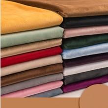 155cm de largura grossa pleuche veludo tecido estofamento tissu para sofá, cortina, vestido, pano preto branco vermelho verde azul pelo medidor