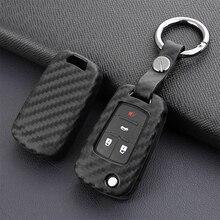 Carbon Fiber Silicone Car Key Cover case Shell keychain For Chevrolet Cruze Fit Buick Opel VAUXHALL Astra Corsa Antara Meriva