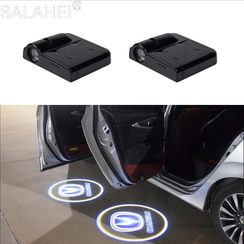 2X Беспроводной светодиодный проектор логотипа светильник s добро пожаловать светильник s автомобильной двери светильник для Changan CS55 CS75 CS35 ...