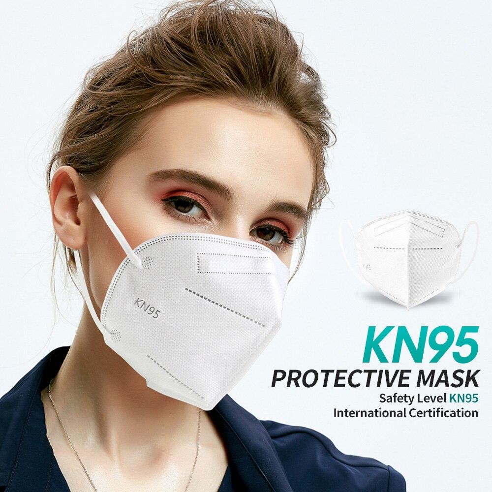 FFP2 masque KN95 filtre ffp2masque 5 couches protecteur couvrant masque facial masques lavables FFP2 fp2 mascarillas fpp2 mascararill FFPP2 4