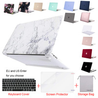 Laptop Case for Macbook Air 13 A1932 Pro 13 Retina A1502  A1466 Release 2017 2016 2015 Notebook hard Case Cover for hp dell
