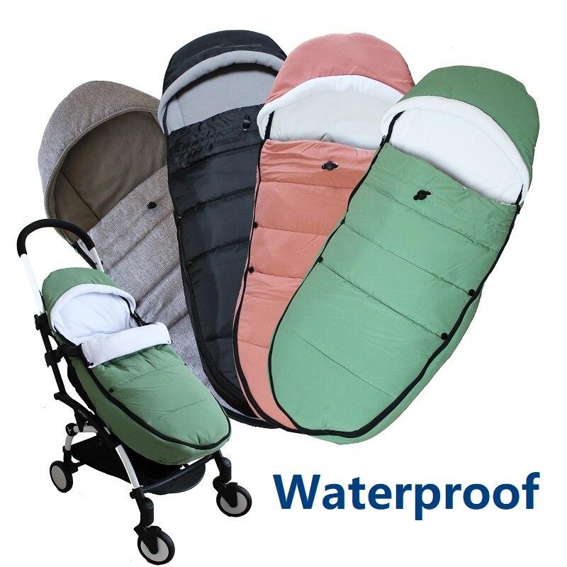 Universel bébé poussette accessoires hiver chaussettes sac de sommeil coupe-vent chaud sac de nuit bébé poussette chancelière pour Babyzen yoyo
