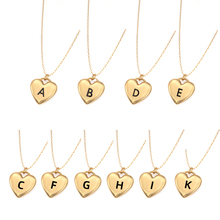 Fashion Dainty Tiny Heart Initial Letter Name Choker Necklace for Women Charms Gold Color Pendant Jewelry
