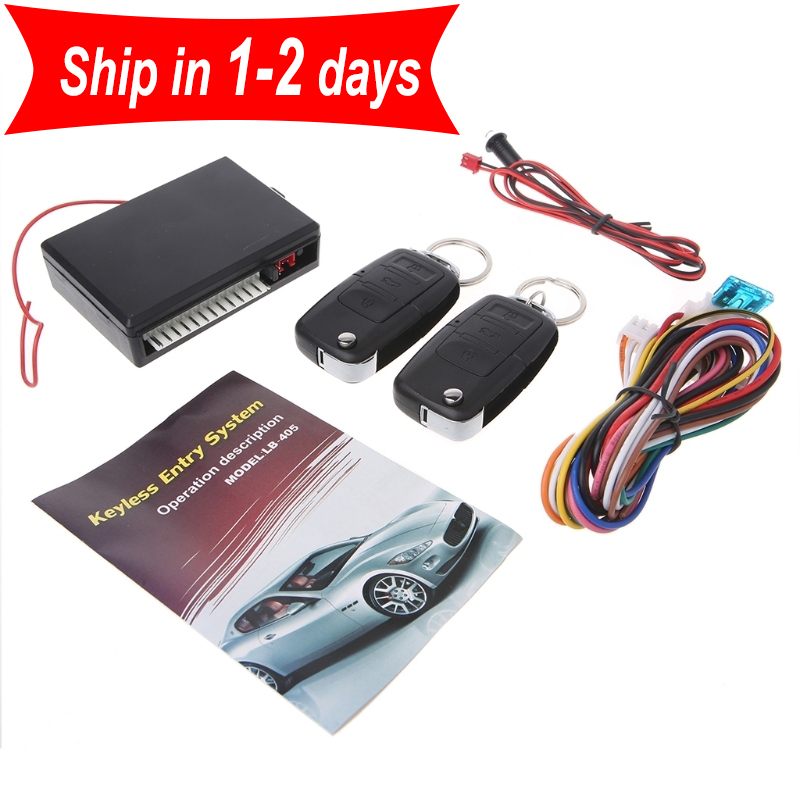 Universal Car Remote Control Central Kit Door Locking Keyless Entry System Alarm Vehicle Entry System With Remote Controllers-Y